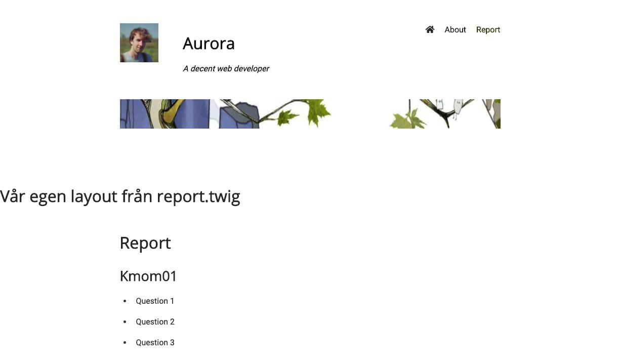 Såhär kan vår nya layout i report se ut