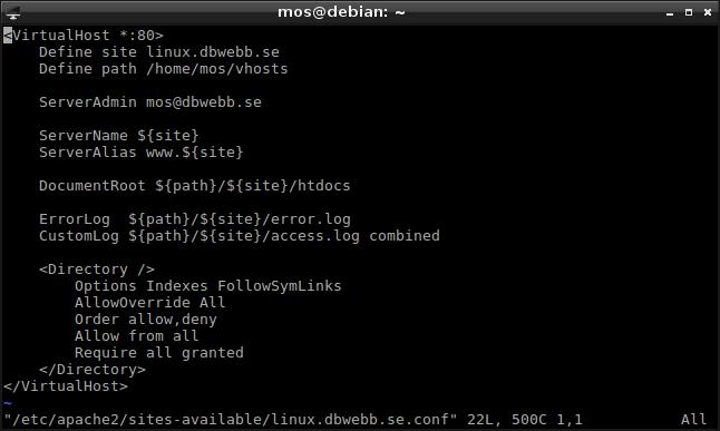 Låt oss skapa en webbplats som en Apache Name-based Virtual Host.