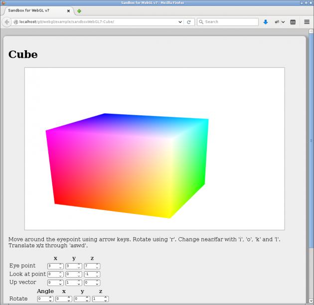 En kub i olika färger.