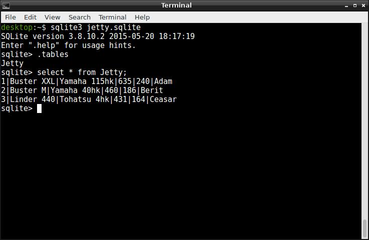 En kommandoradsklient för SQLite | dbwebb