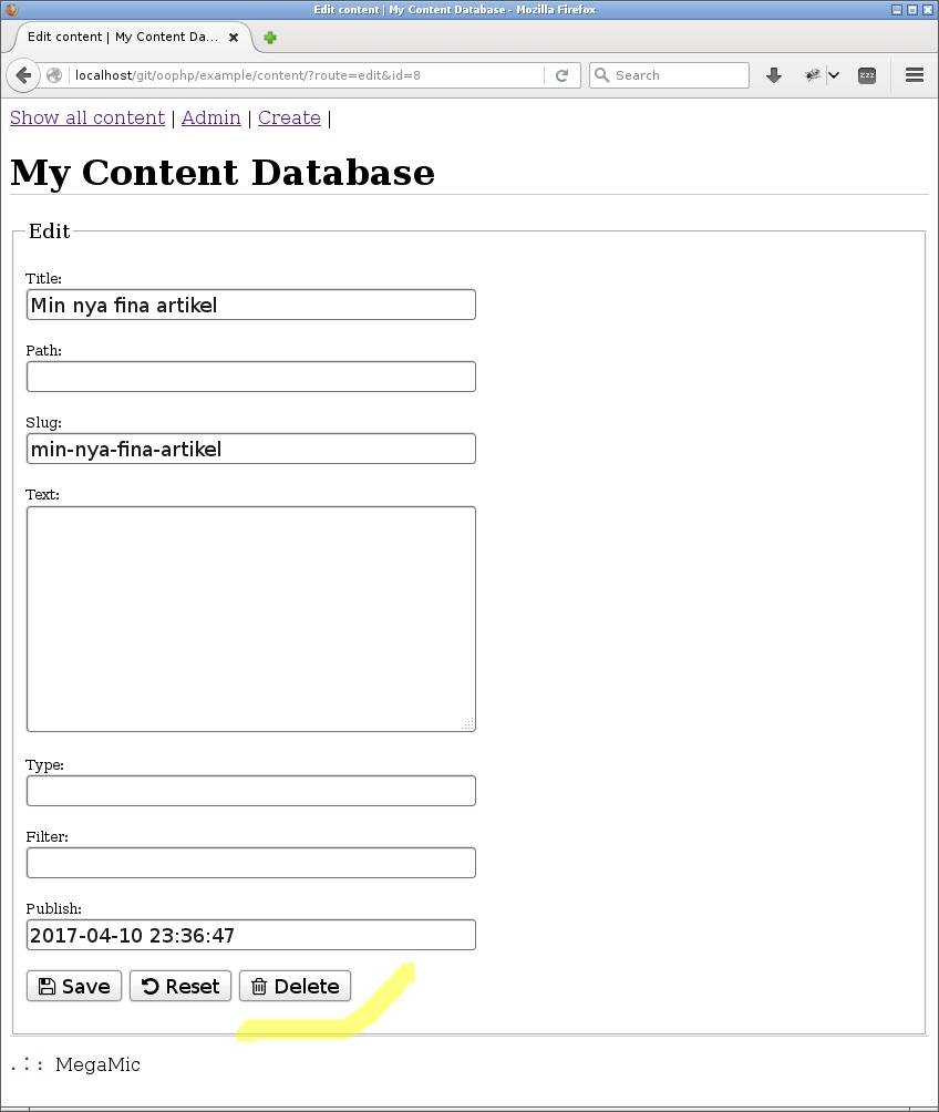 Dating webbplats databas struktur