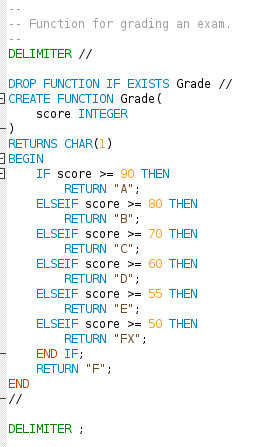 En egendefinierad funktion som kan underlätta när man gör rapporter med SQL.