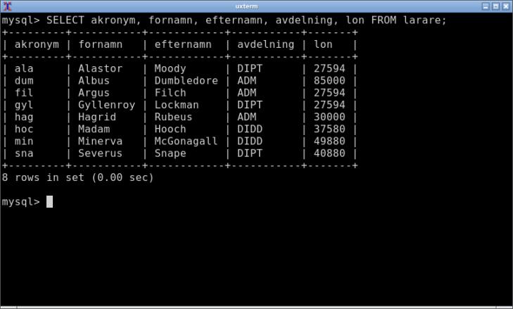 Guiden hjälper oss med mer avancerade konstruktioner i SQL.