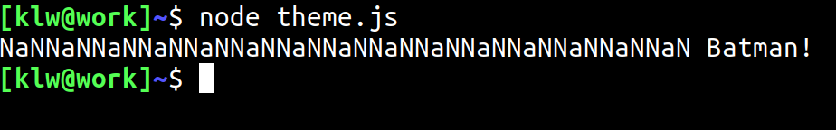 En interpretator för JavaScript.